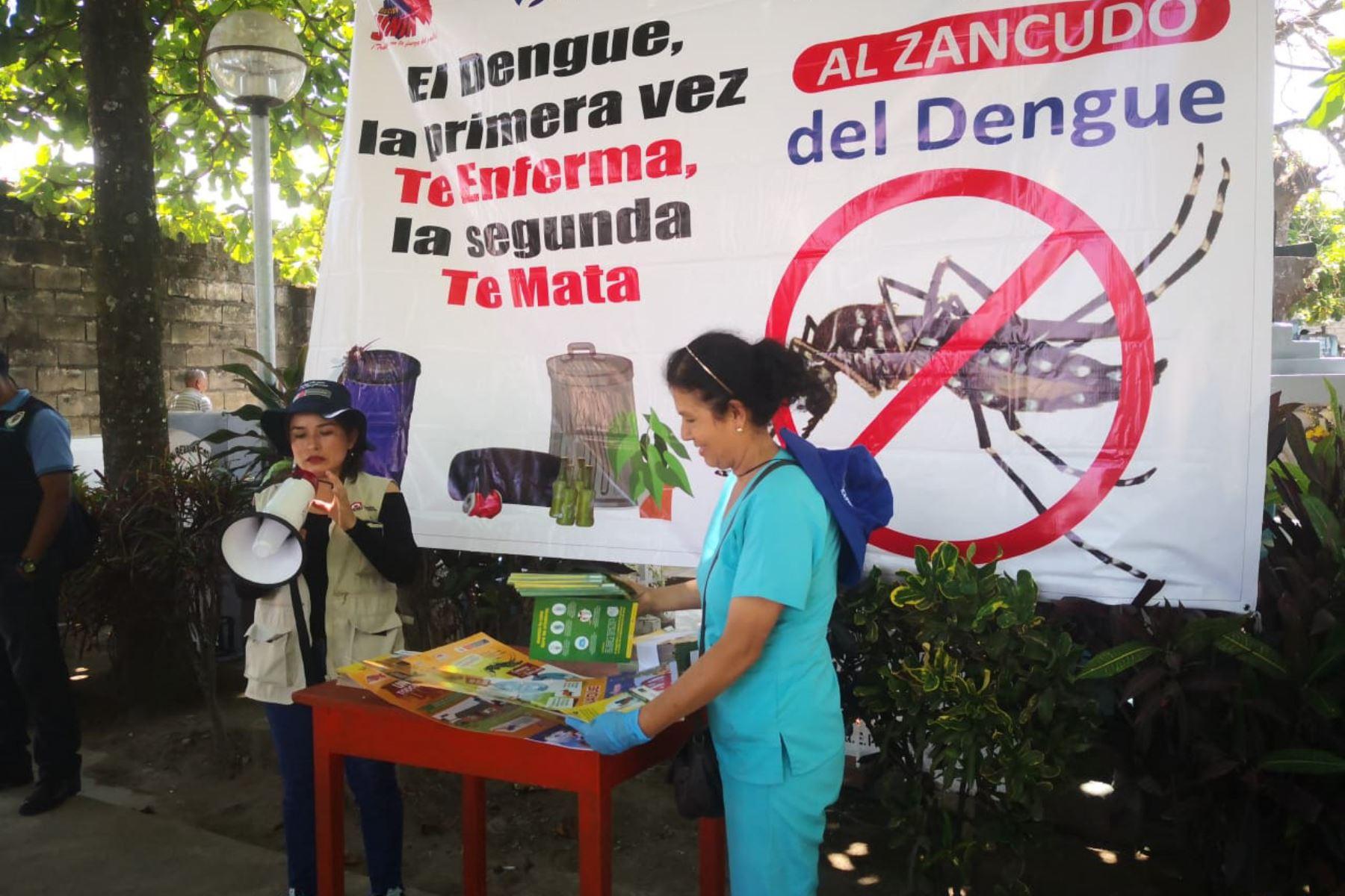 En lo que va del año se reportaron 34,367 casos de dengue en todo el país, informó el Ministerio de Salud. ANDINA/Difusión