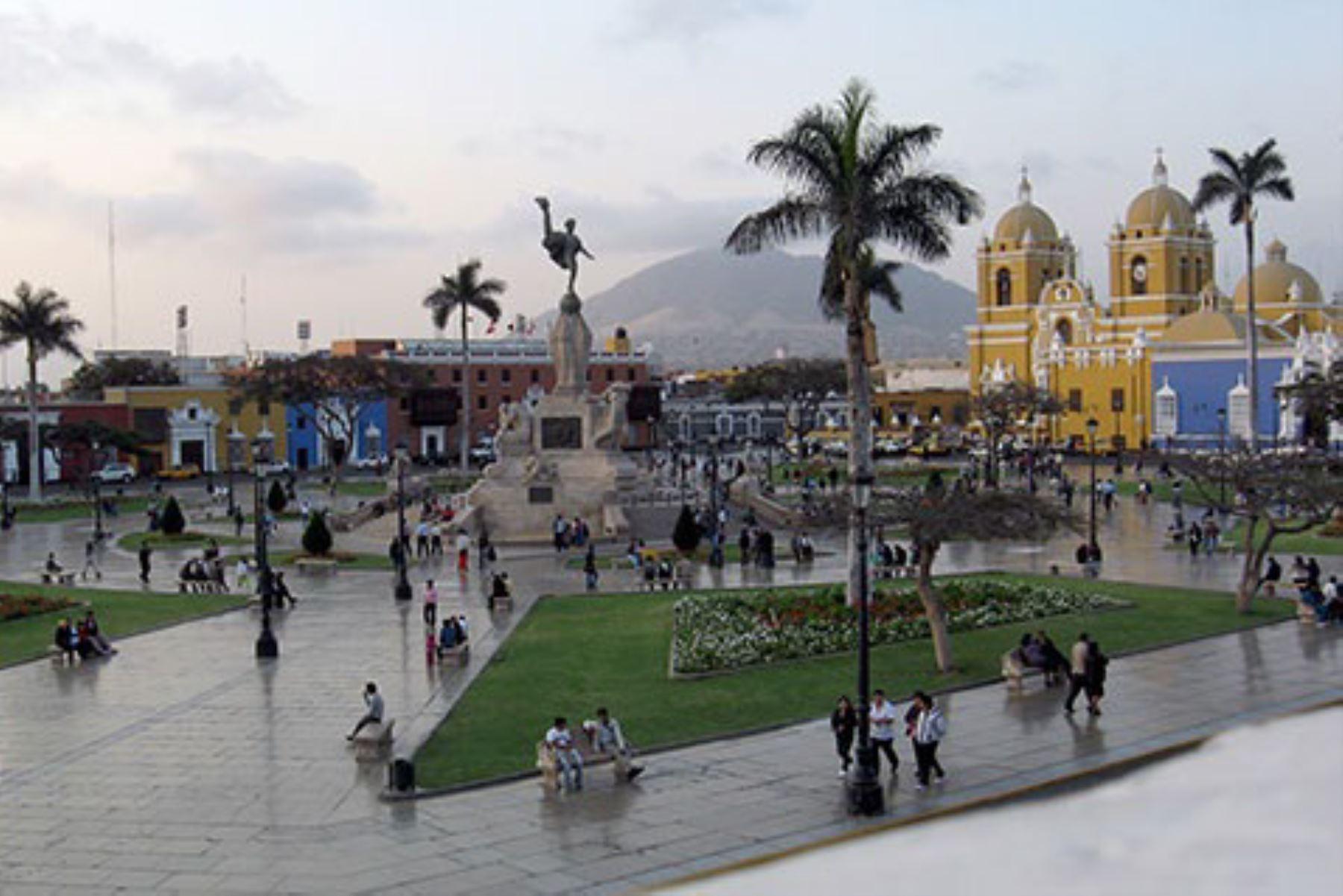 La ciudad de Trujillo fue remecida esta tarde por un sismo de magnitud 4.7. Foto:  ANDINA/difusión.