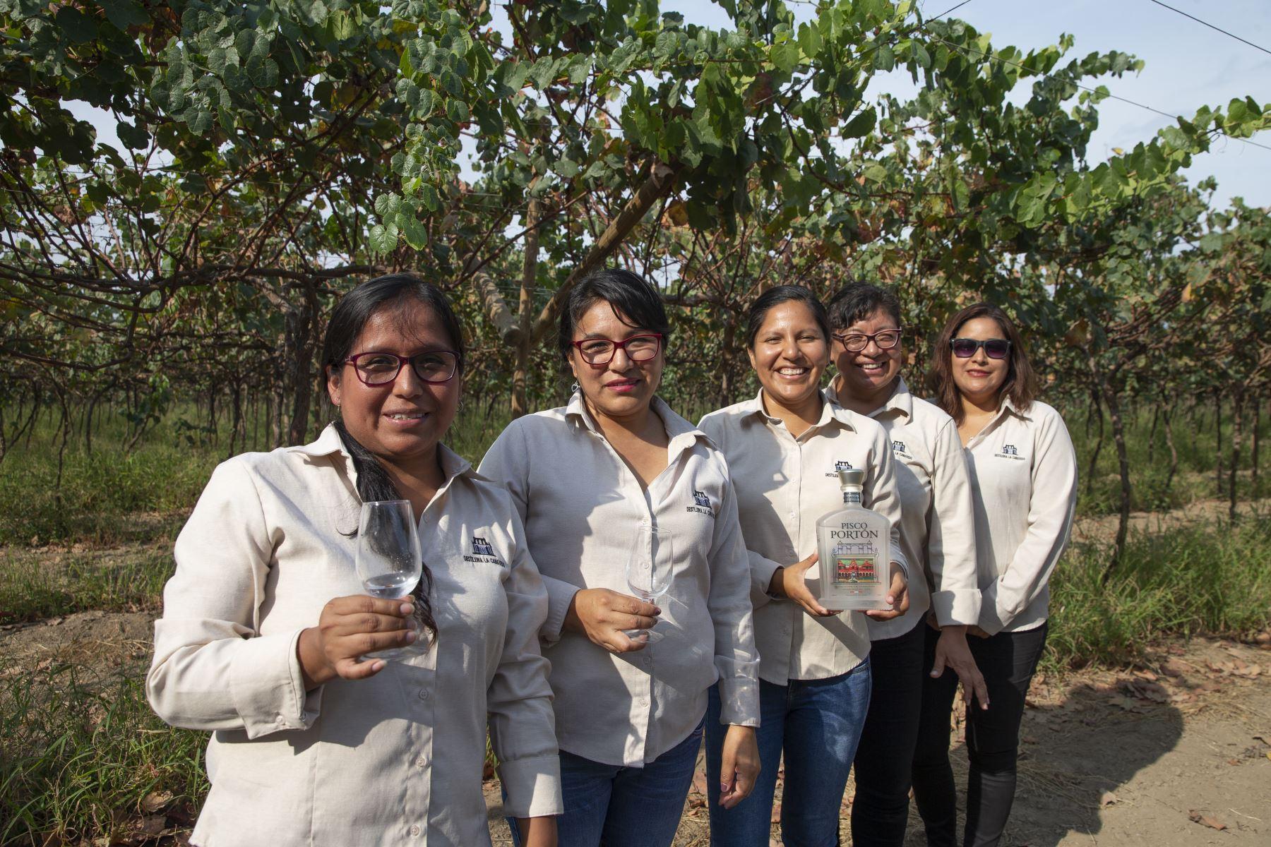 Hacienda La Caravedo, donde se elabora el premiado pisco Portón, tiene una gran cantidad de mujeres que hacen del pisco una experiencia culinaria. Foto: ANDINA/Jhonel Rodríguez Robles.