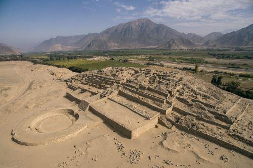 Sitio arqueológico de Caral. ANDINA/Difusión