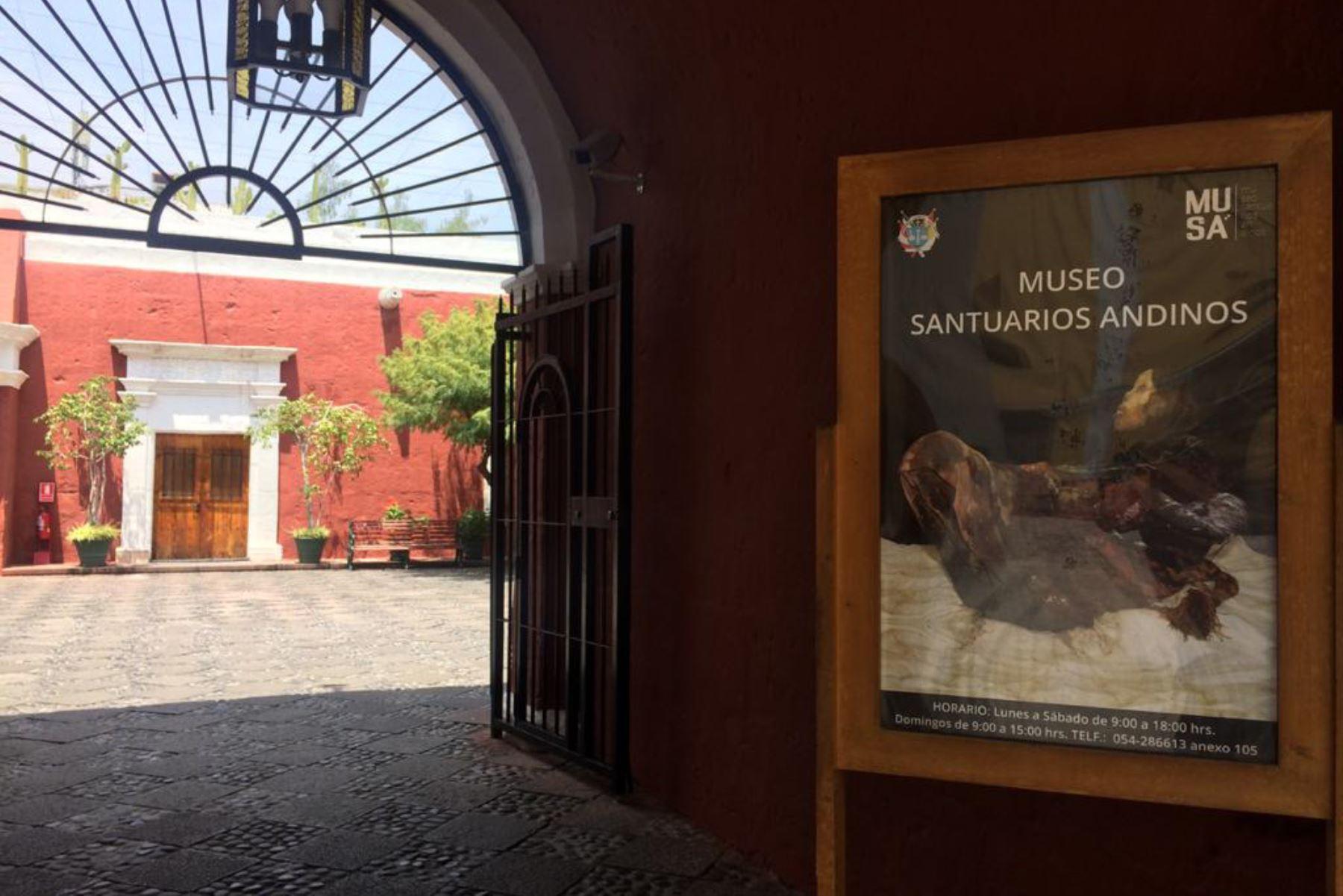 El museo Santuarios Andinos que alberga a la momia Juanita se pone de moda y ya recibió 900 turistas tras su reapertura el 2 de noviembre. ANDINA/Difusión