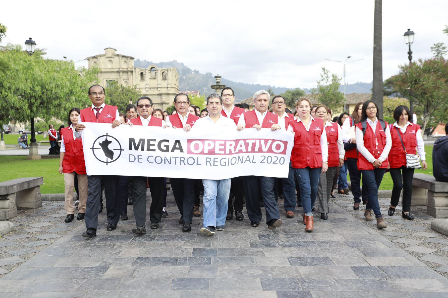 El contralor general, Nelson Shack, encabezó el primer megaoperativo de control regional en Cajamarca. Foto: ANDINA/Difusión