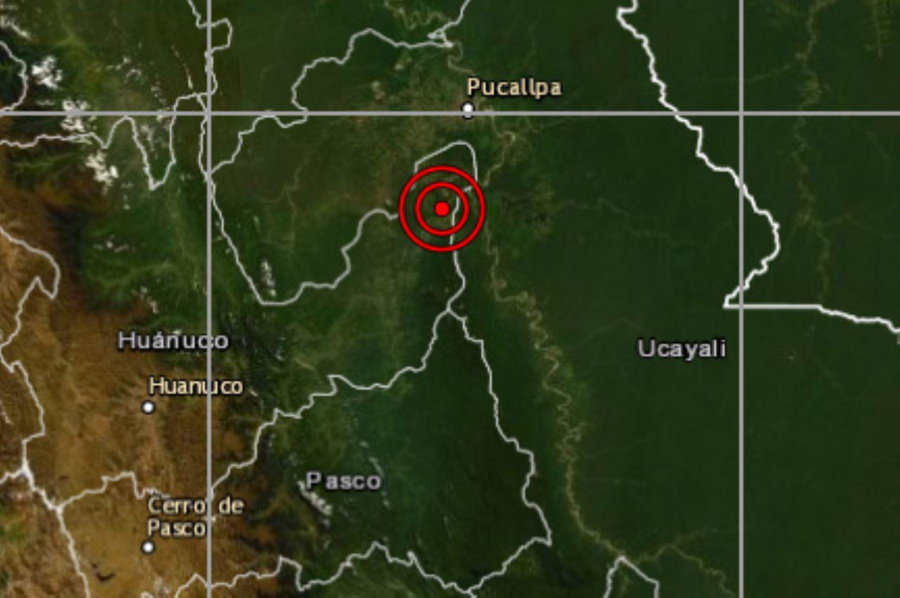 Huánuco: en la provincia de Puerto Inca se reporta sismo de magnitud 5