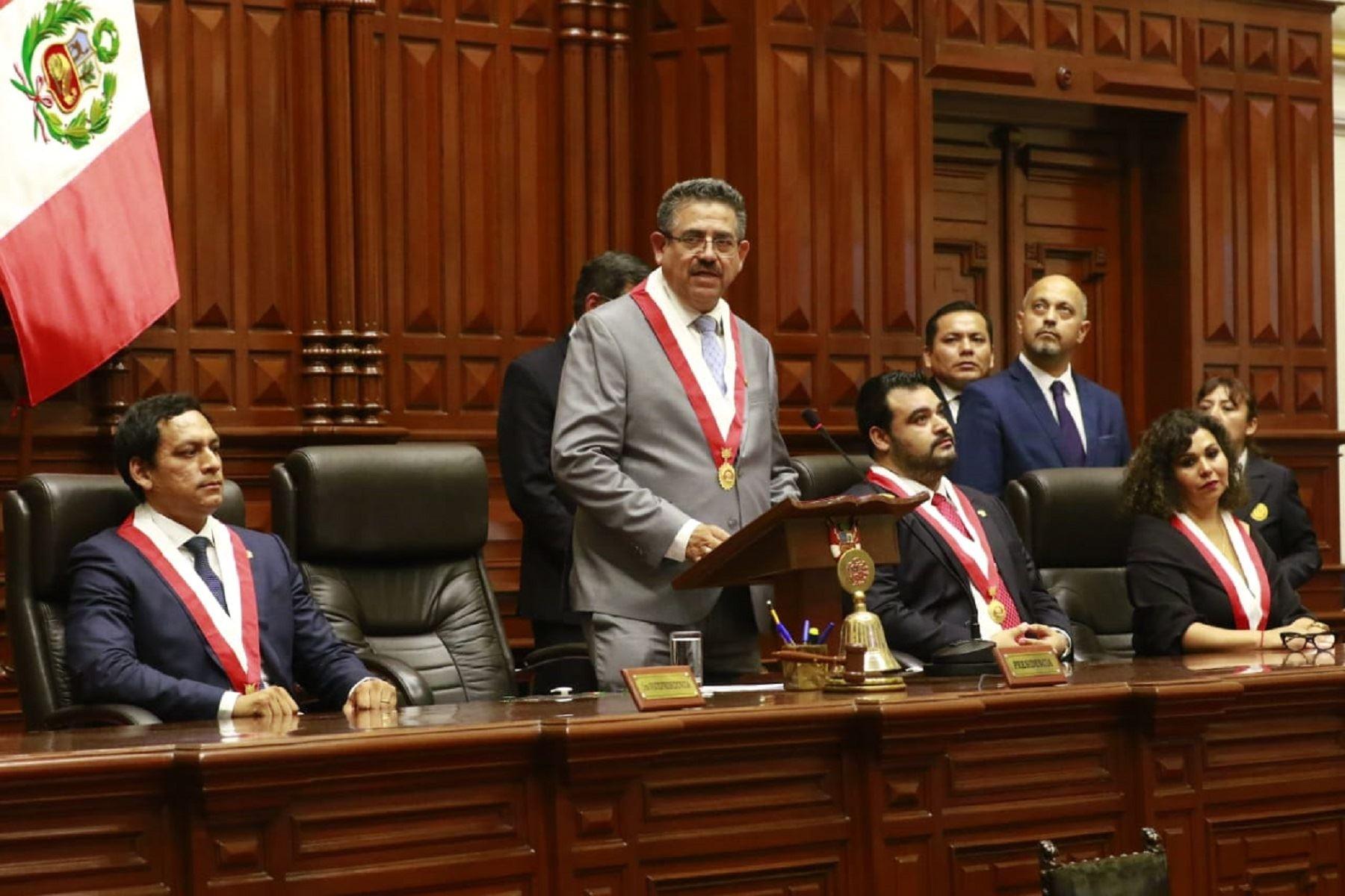 Manuel Merino de Lama preside la Mesa Directiva del Congreso. ANDINA/Difusión