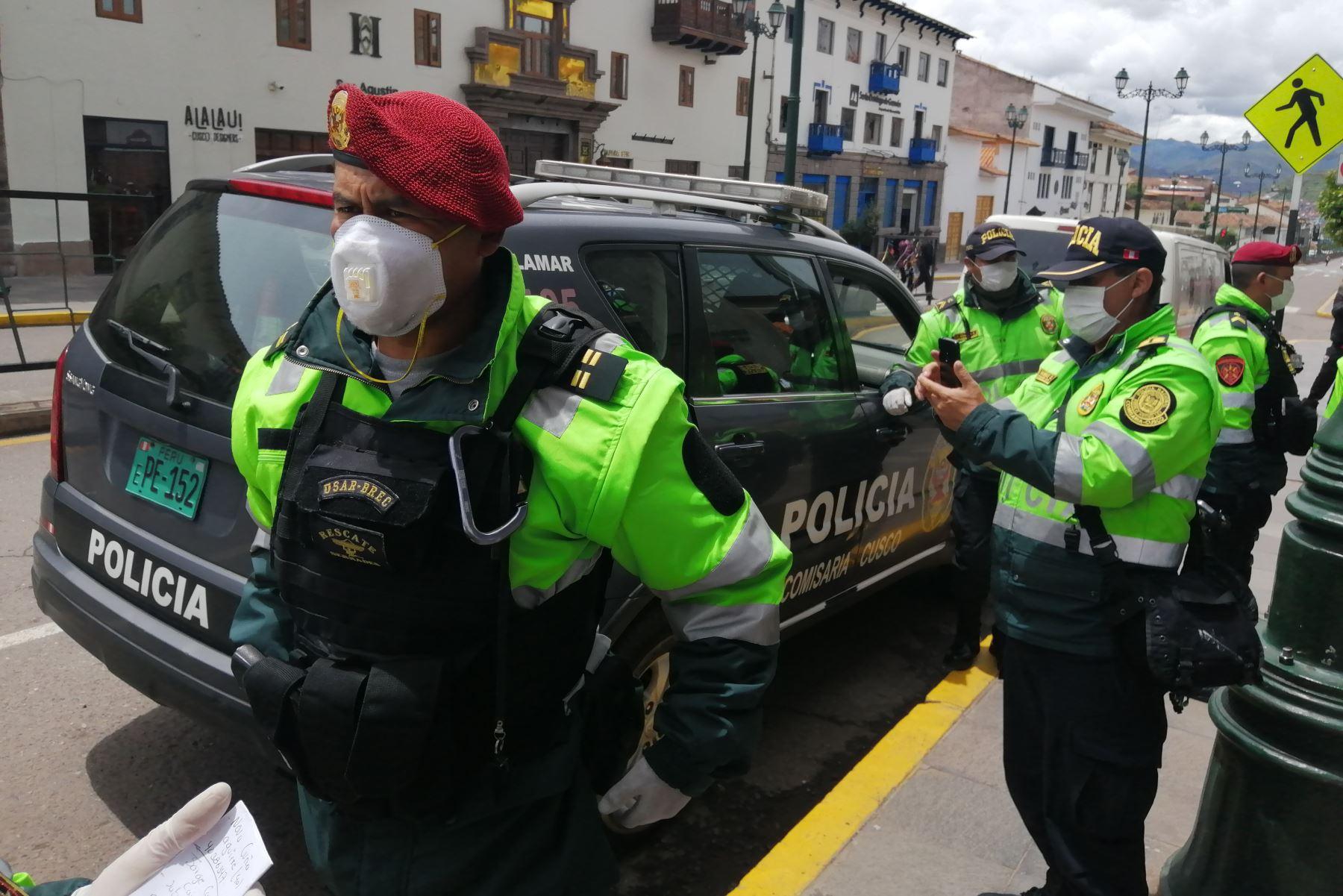 Más de 1,000 agentes policiales garantizarán la seguridad durante la escenificación del Inti Raymi en Cusco. ANDINA/Difusión