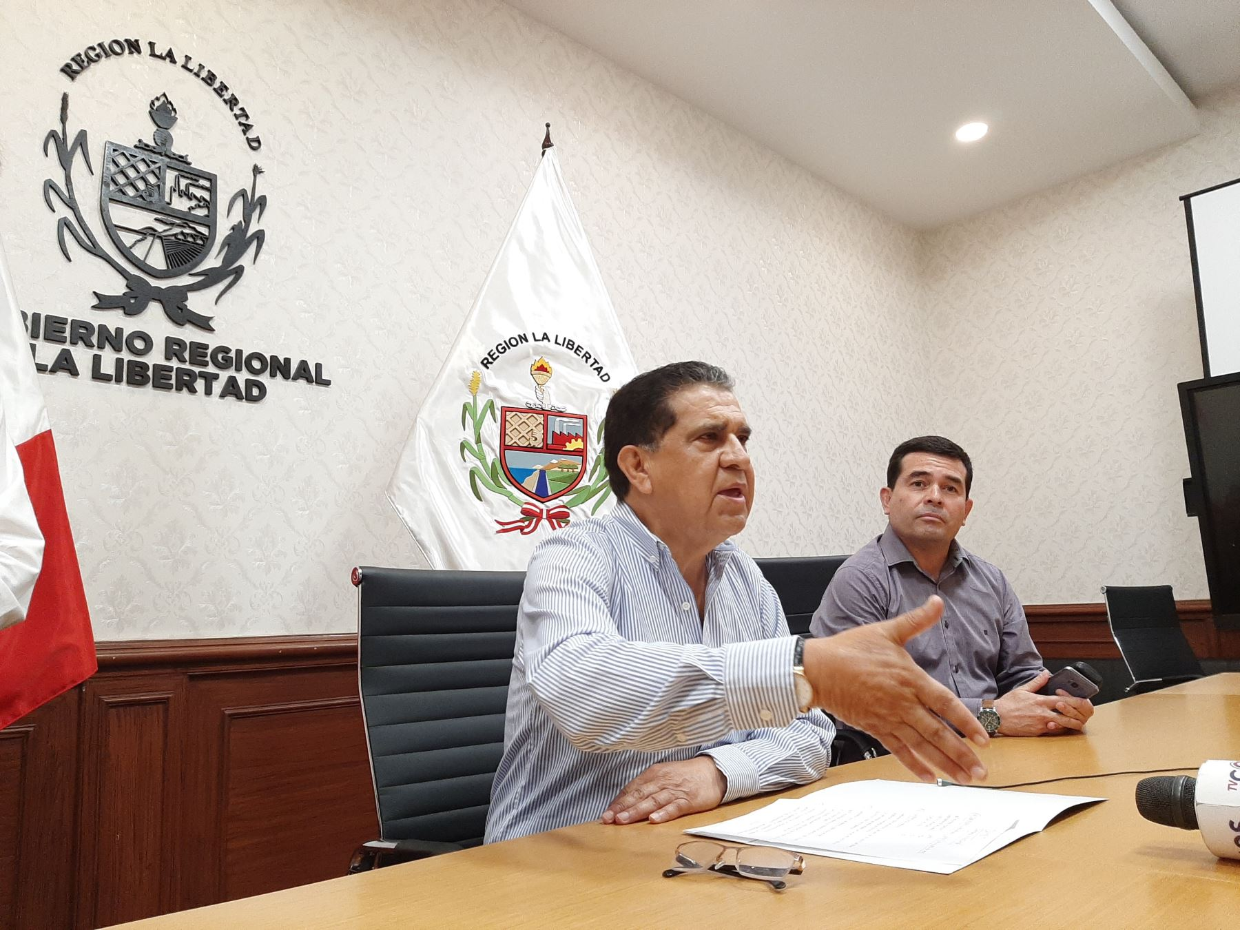 Gobernador regional de La Libertad, Manuel Llempén Coronel. Foto: Cortesía
