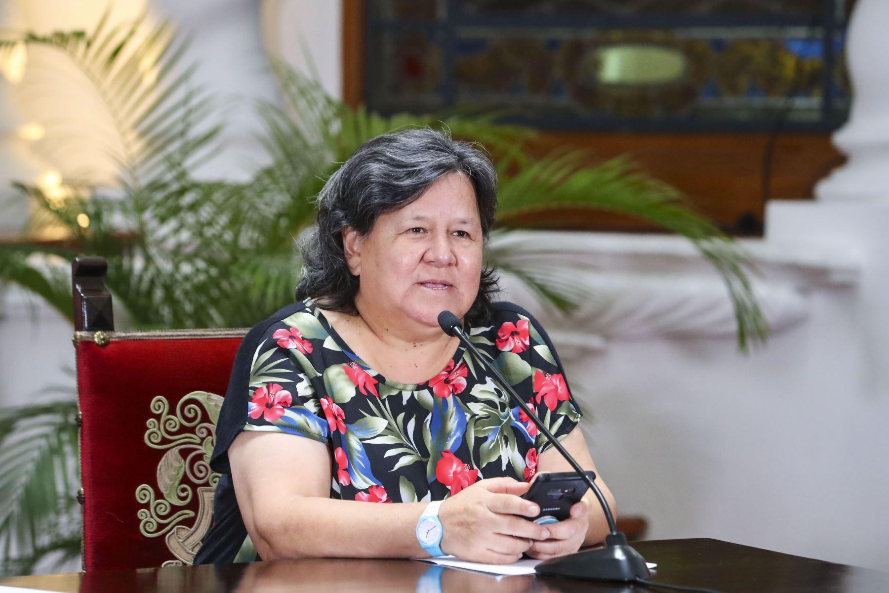 Ministra de Desarrollo e Inclusión Social, Ariela Luna. ANDINA/Prensa Presidencia