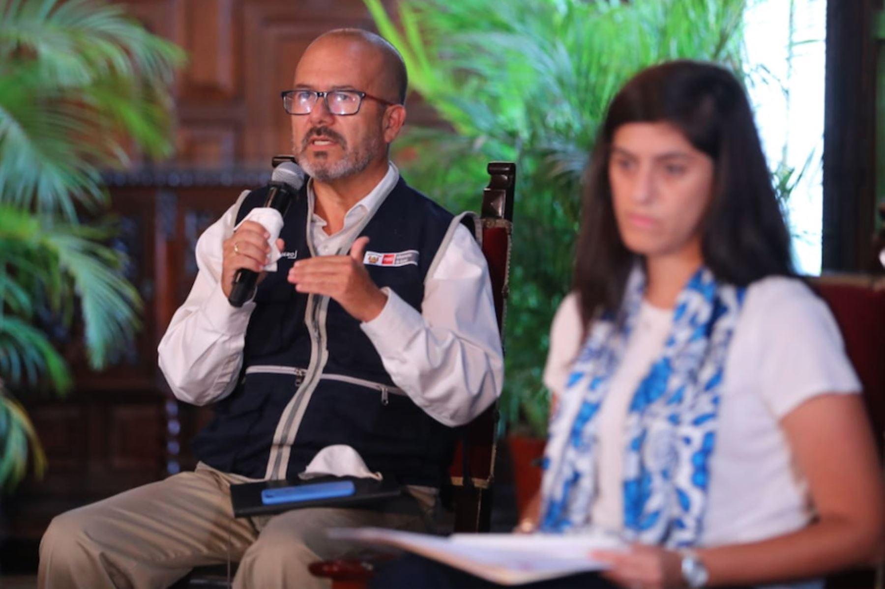 Ministro de Salud a Víctor Marcial Zamora Mesía informó sobre las medidas y acciones que implementa su sector  en el Estado de Emergencia Nacional contra el COVID-19.Foto: ANDINA/Presidencia