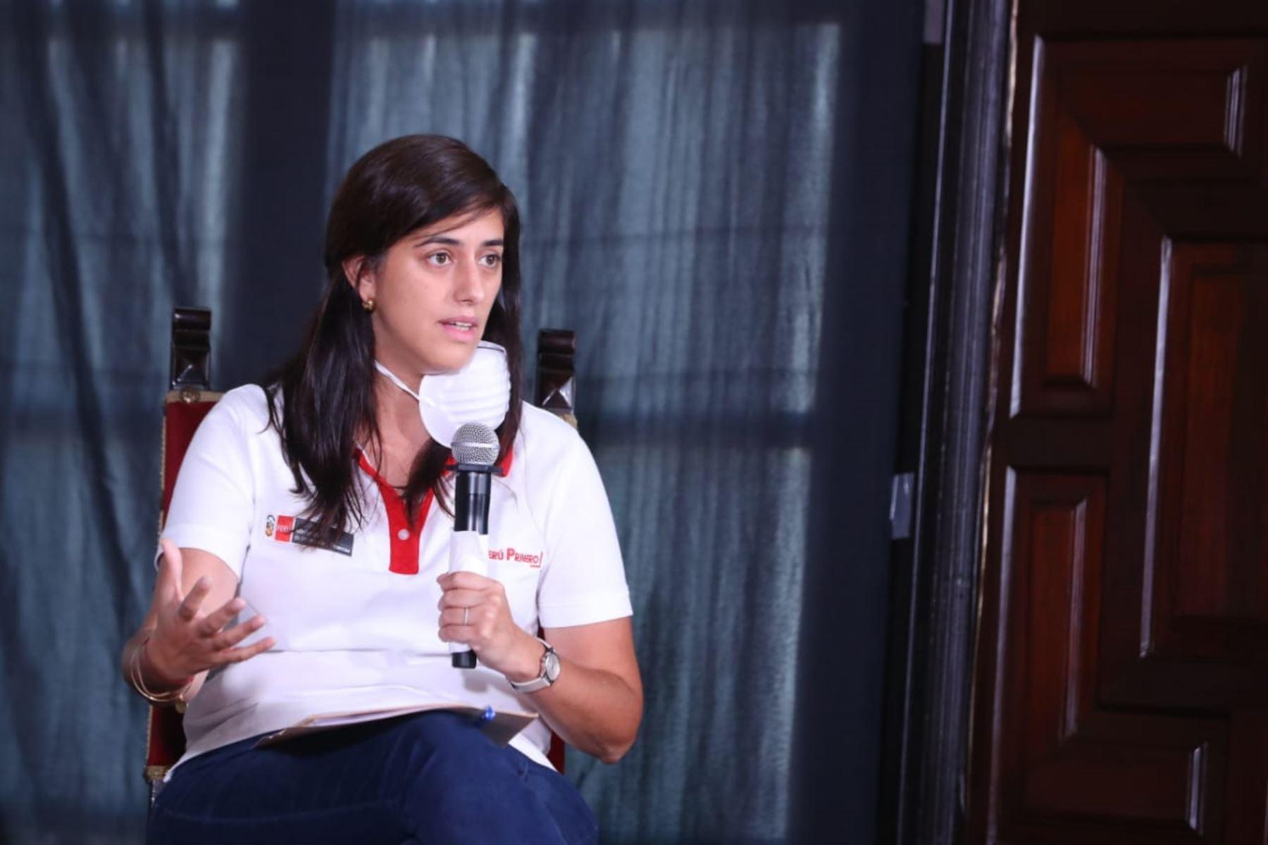 Ministra Economía, María Antonieta Alva informa sobre las medidas y acciones que implementa su sector, frente al  Estado de Emergencia Nacional. Foto:ANDINA/Prensa Presidencia
