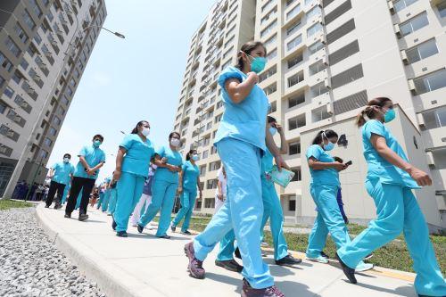 Continúan los  trabajos de implementación en el Hospital Villa Panamericana por covid-19