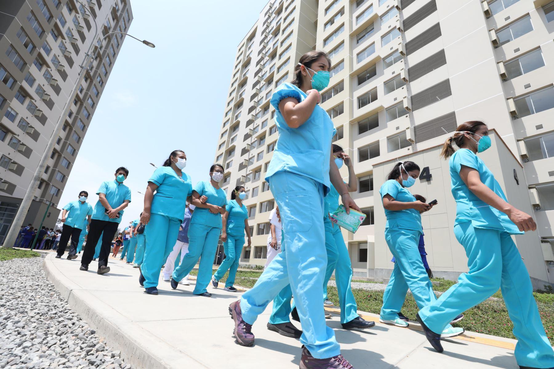 EsSalud continúa los trabajos de implementación en el Hospital Villa Panamericana Foto: EsSalud