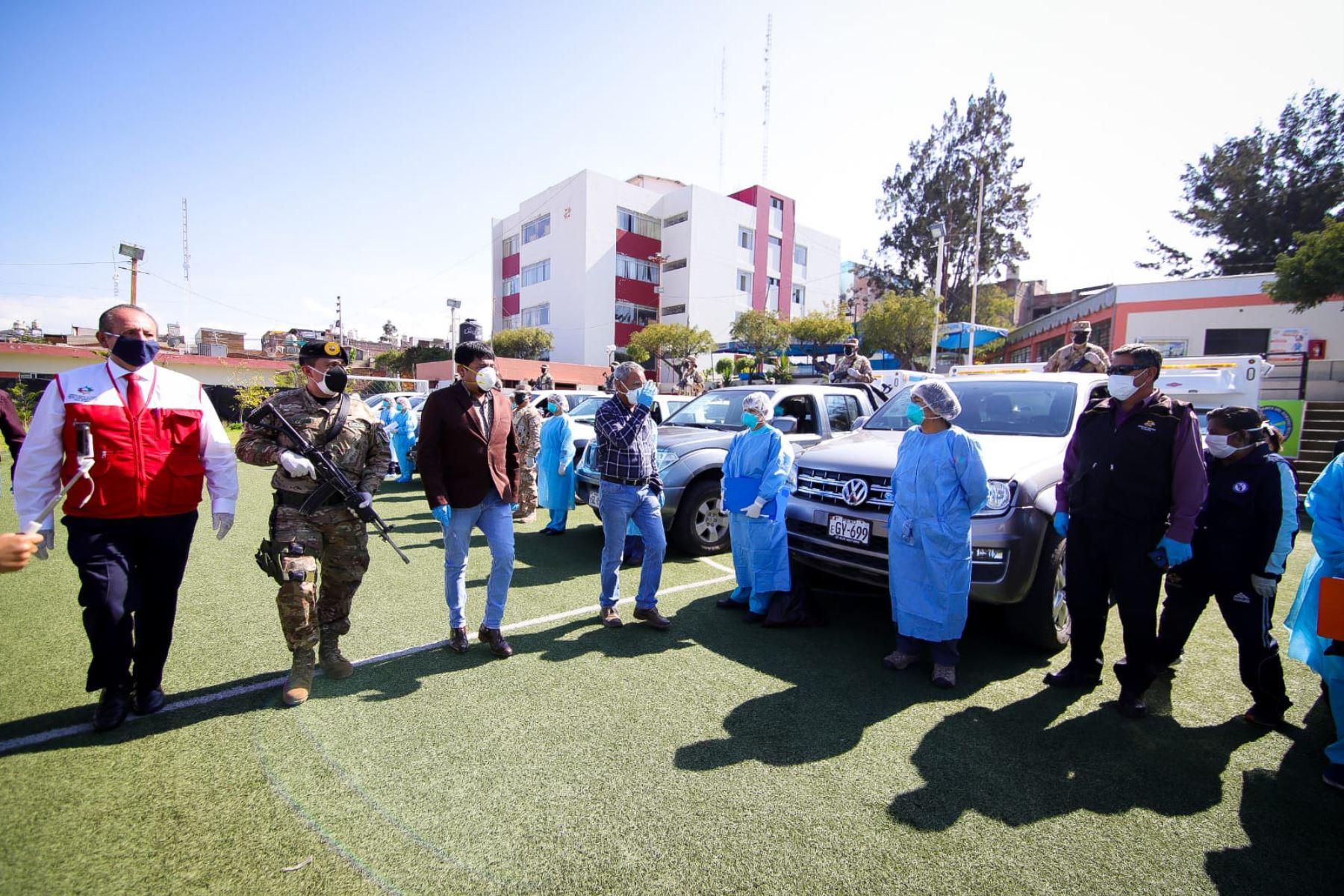 Personal de las FF. AA. integran patrullas sanitarias en Arequipa. Foto: Cortesía/Rocío Méndez
