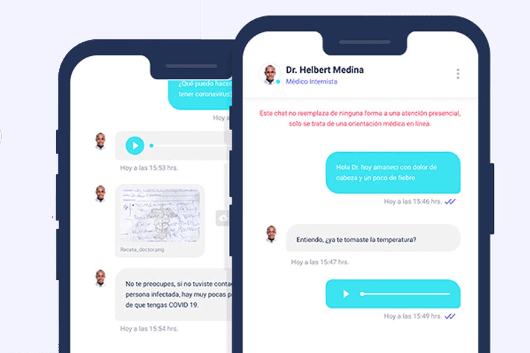 Los pacientes deberán indicar sus síntomas a través de chats privados en la app.