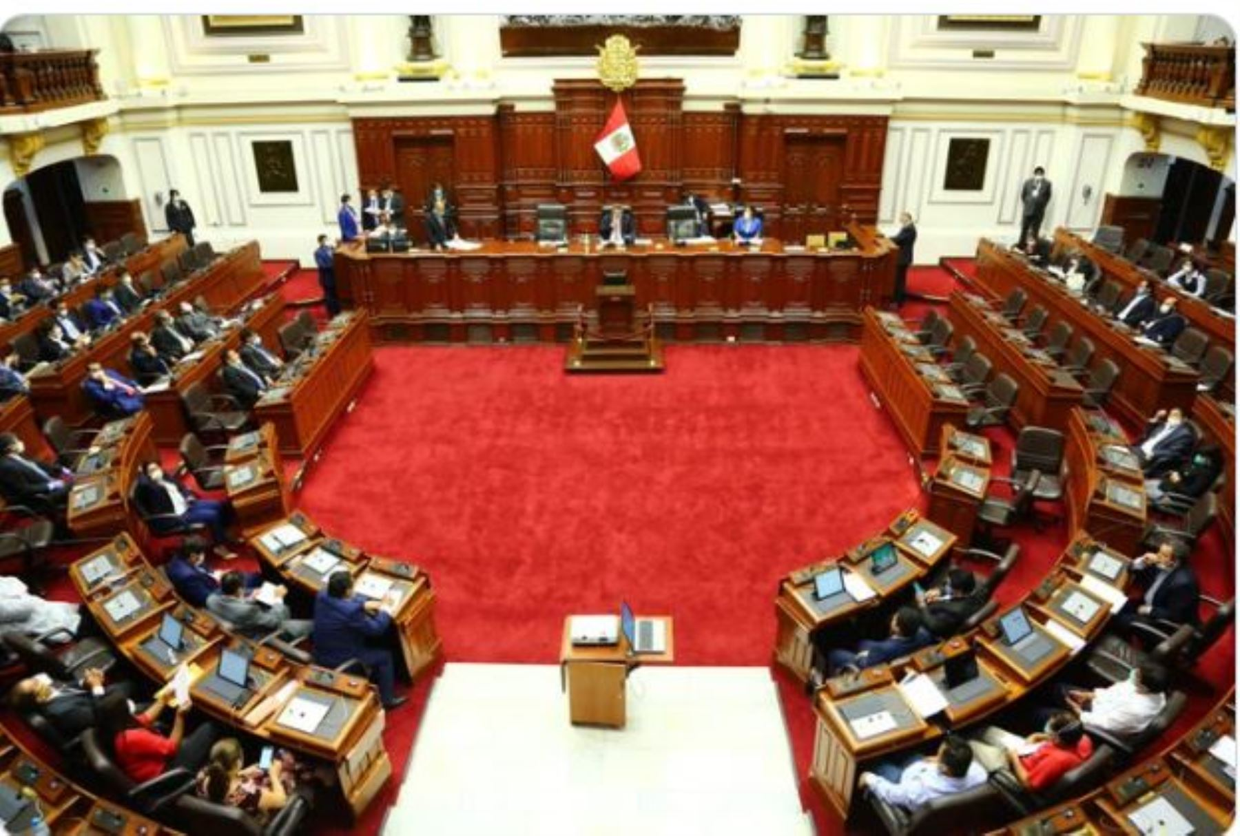 Foto: pleno del Congreso.