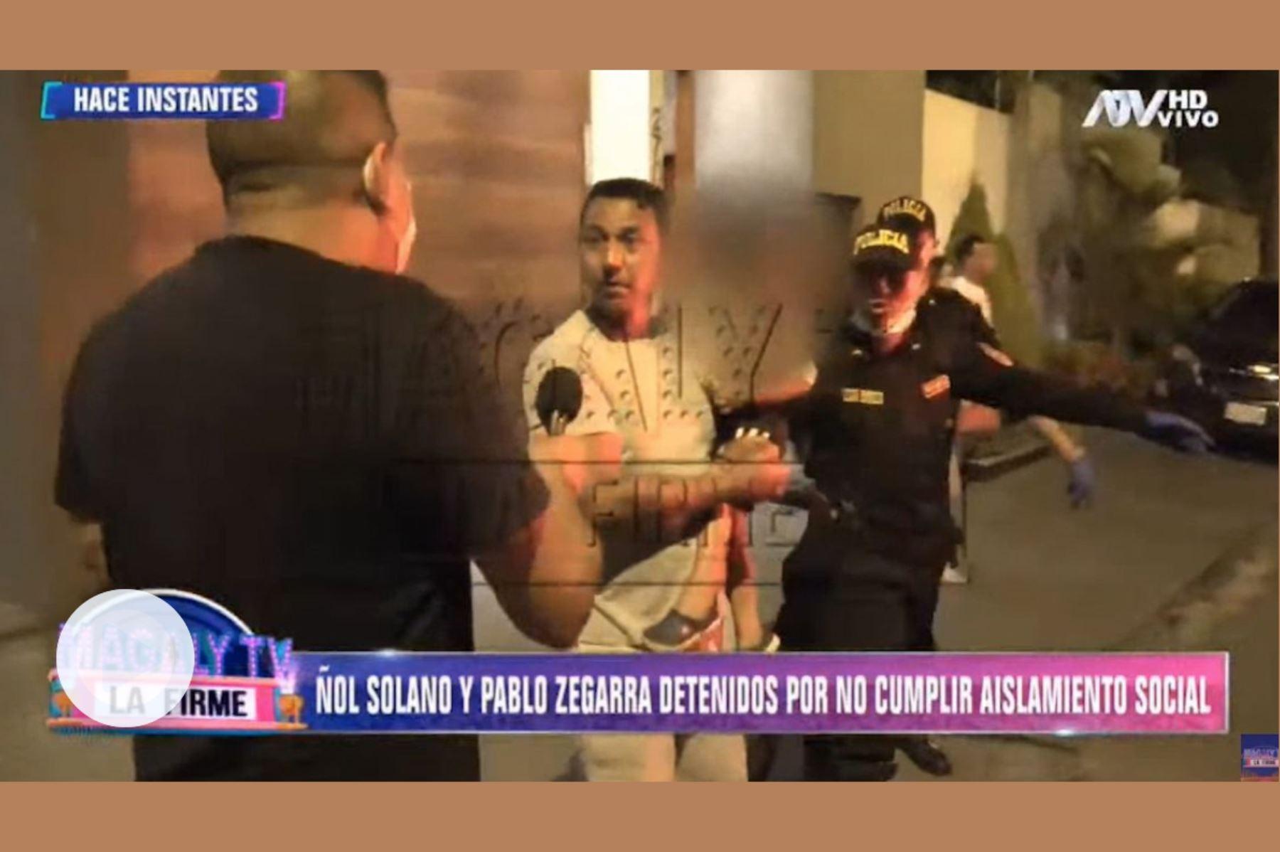 El entrenador nacional negó que se tratase de una fiesta. Foto: captura de TV.