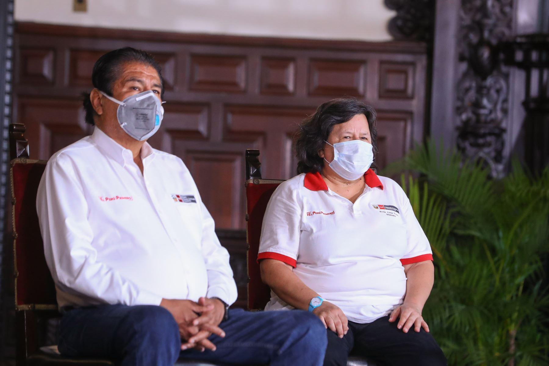 Presidente Vizcarra y ministros informan sobre las medidas y acciones que se están implementando por el estado de emergencia nacional.  Foto: ANDINA/ Prensa Presidencia