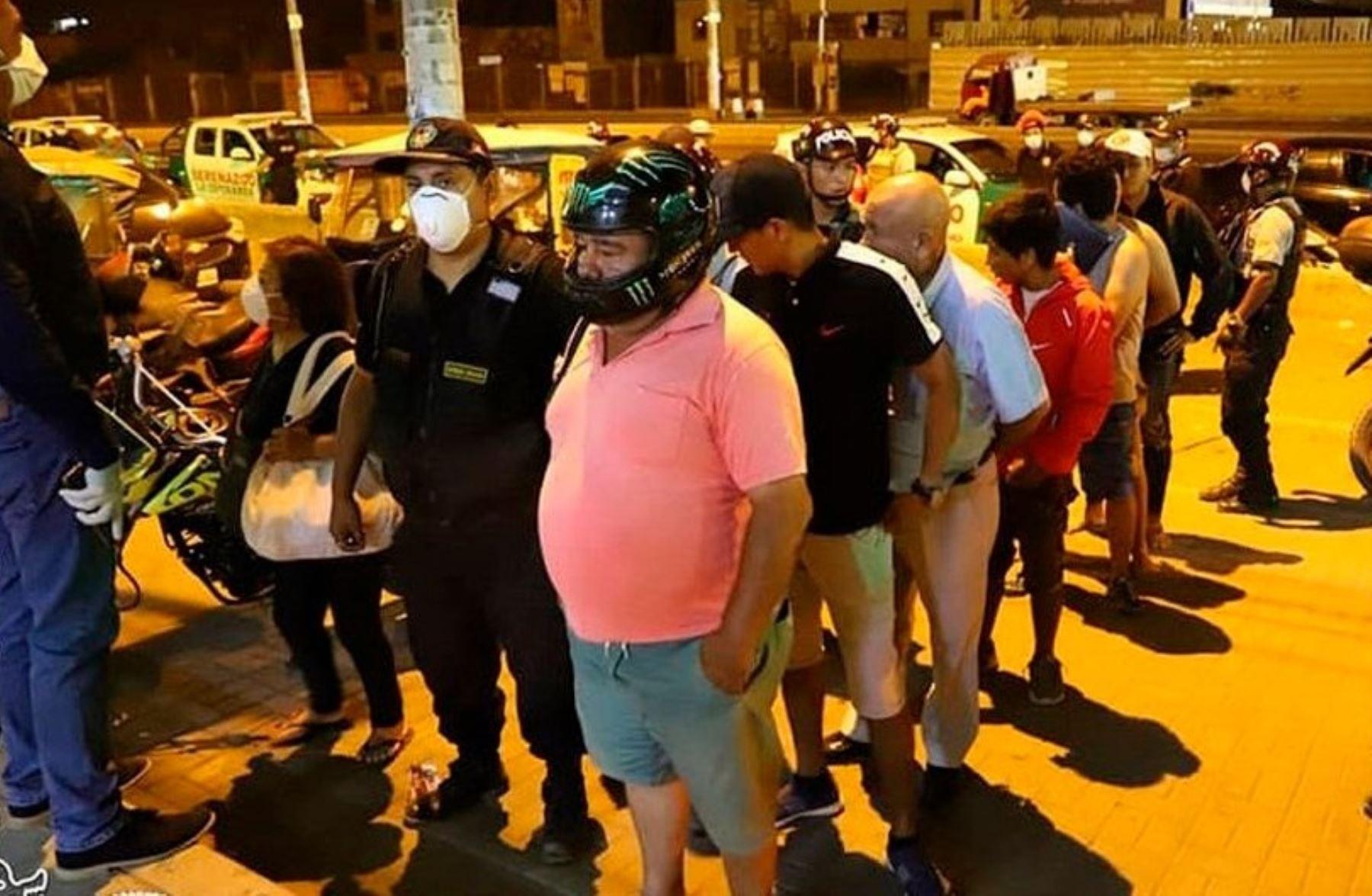 Cerca de 4,000 detenidos en las diversas provincia de la región Lima por infringir el aislamiento social obligatorio.