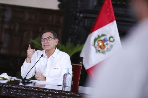 Coronavirus: presidente Vizcarra informa junto a sus ministros sobre la situación del estado de emergencia en el día 16