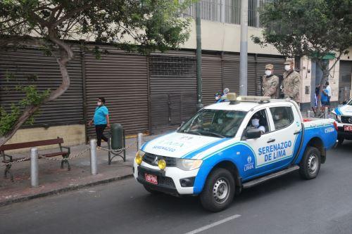 Serenazgo de Lima y Ejército hacen  patrullaje integrado ante el avance del COVID-19