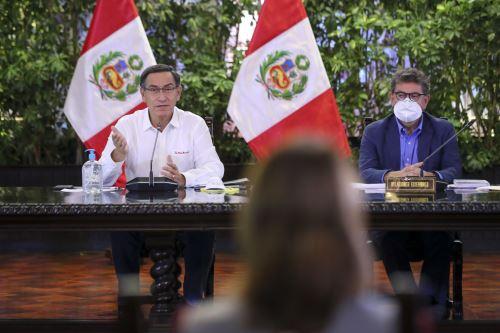 Presidente Vizcarra informa junto a ministros de Estado sobre la situación del Estado de Emergencia en el día 17 y acciones para contener el coronavirus