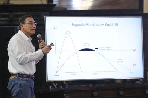 Coronavirus: Presidente Vizcarra junto a ministros de estado informan sobre la situación del estado de emergencia en el día18