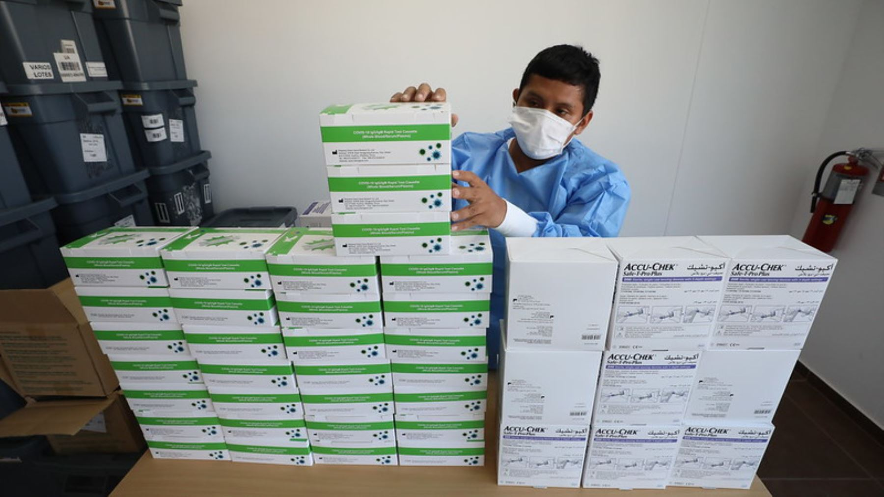 Centro de Atención y Aislamiento de Essalud  recibe las  pruebas rápidas de coronavirus. Foto: ANDINA/Essalud