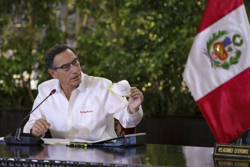 Coronavirus: presidente Vizcarra junto a ministros informan sobre la situación del estado de emergencia en el día 19