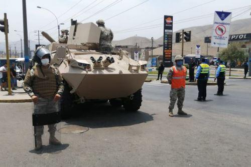 Patrullan calles para vigilar el cumplimiento de la restricción de tránsito desde hoy. Foto: ANDINA/Difusión