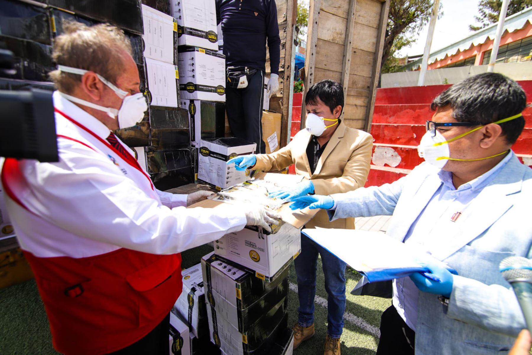 El Minsa entregó hace unas semanas equipos biomédicos al Gobierno Regional de Arequipa. ANDINA/Difusión