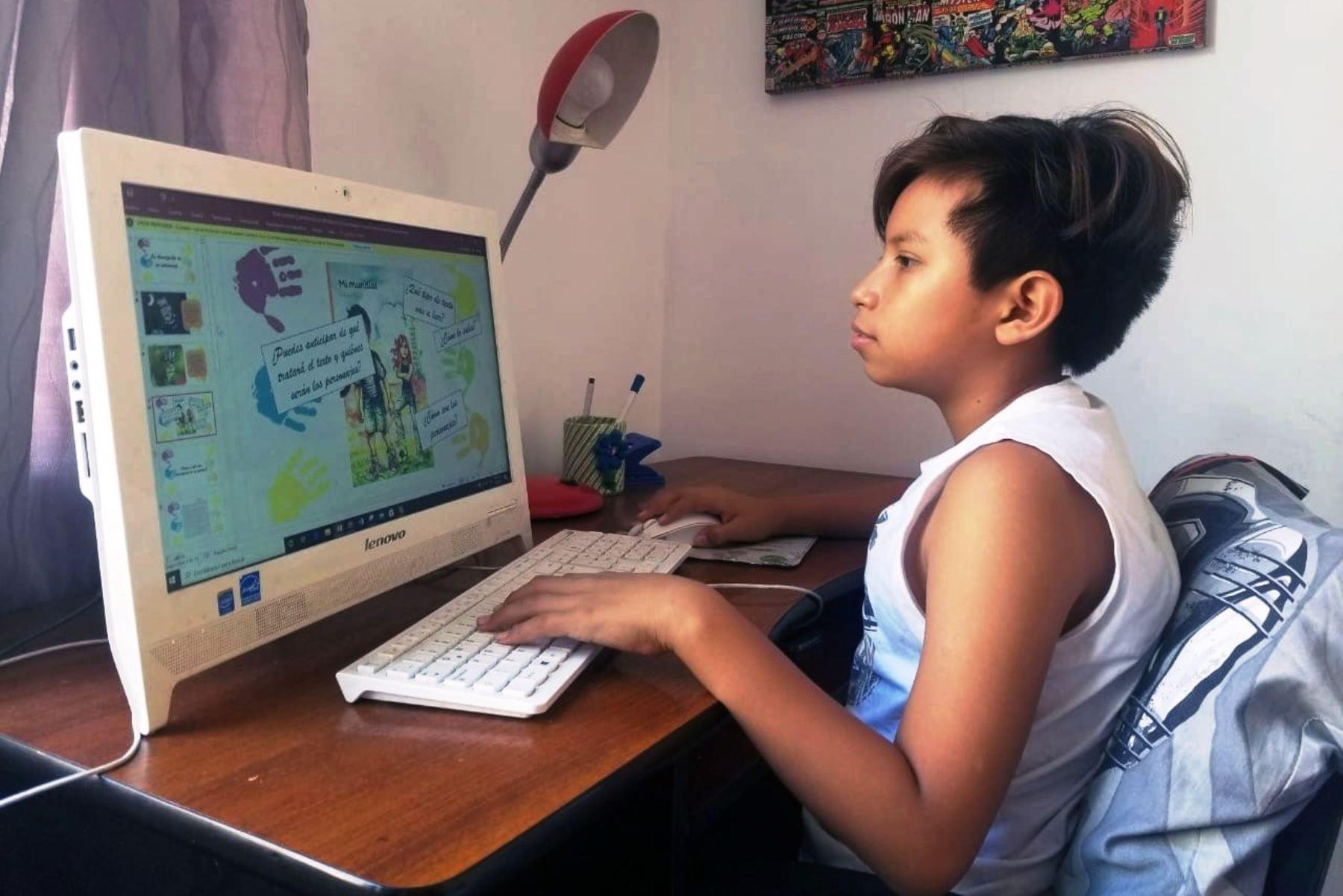 Coronavirus: municipio de Lima brindará refuerzo escolar virtual gratuito. Foto: ANDINA/Difusión.