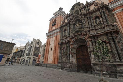 Covid-19: Así luce el Centro de Lima durante de orden de inmovilidad total hoy Domingo de Ramos