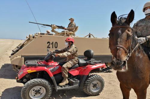 Coronavirus:Ejército del Perú refuerza patrullaje en la frontera Sur