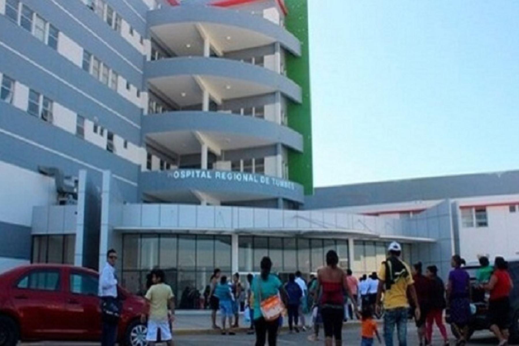 El deceso del anciano se produjo en el Hospital Regional de Tumbes a las 09.00 horas.
