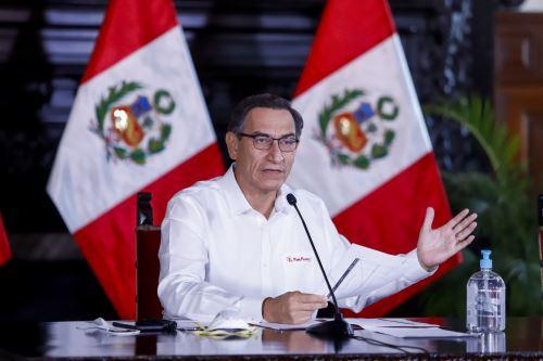 El presidente de la República, Martín Vizcarra, informa las medidas adoptadas por el Gobierno ante la emergencia nacional por el coronavirus