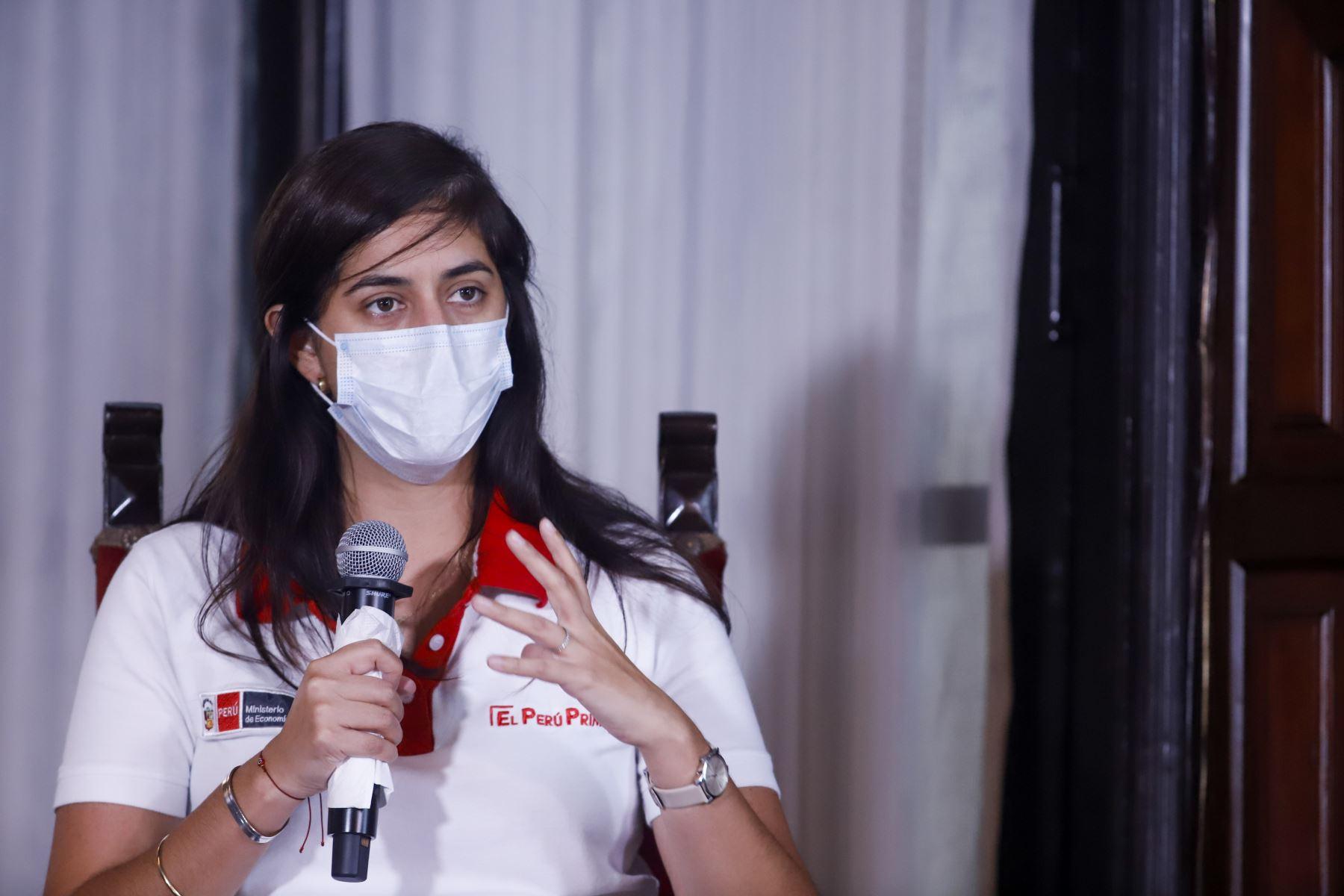 Ministra de Economía y Finanzas, María Antonieta Alva. ANDINA/Prensa Presidencia