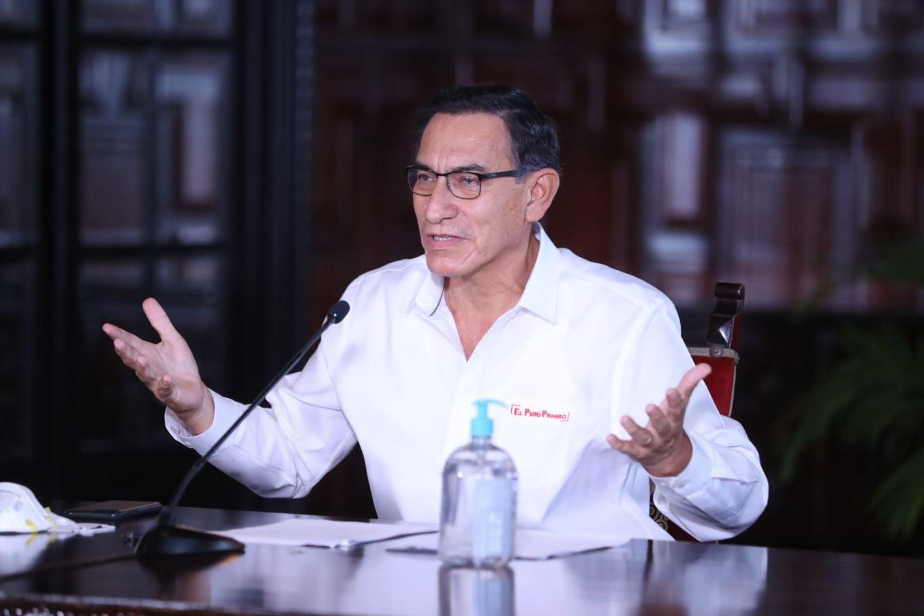 Presidente Martín Vizcarra. Foto: ANDINA/Prensa Presidencia.