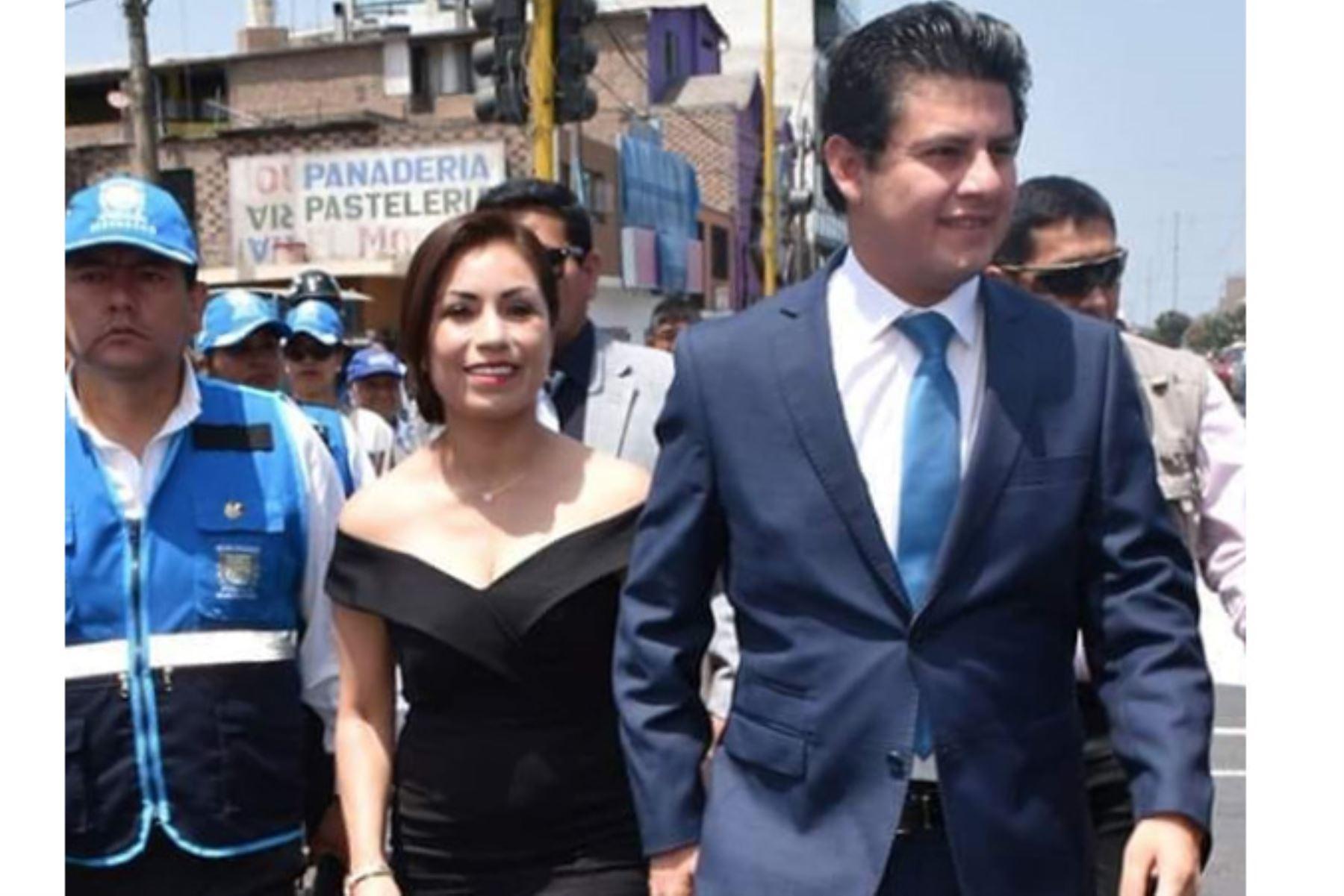 La congresista de Acción Popular, Leslye Lazo, informó hoy que dio positivo para el coronavirus junto a su esposo Julio Chávez, alcalde del distrito de San Martín de Porres, convirtiéndose en el primer caso de un parlamentario con covid-19. Foto: Facebook