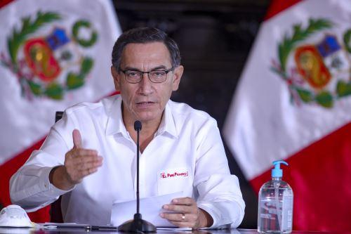 El presidente Martín Vizcarra informa sobre las medidas adoptadas por el Gobierno en el marco del estado de emergencia nacional por el coronavirus