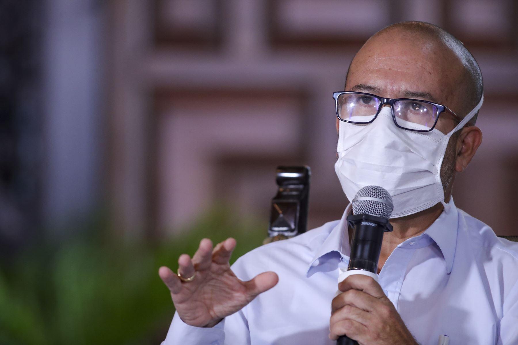 Ministro de Salud Víctor Zamora Mesía  informó sobre diferentes las medidas adoptadas por su sector, en el marco del estado de emergencia nacional por el coronavirus (covid-19). Foto: ANDINA/ Prensa Presidencia
