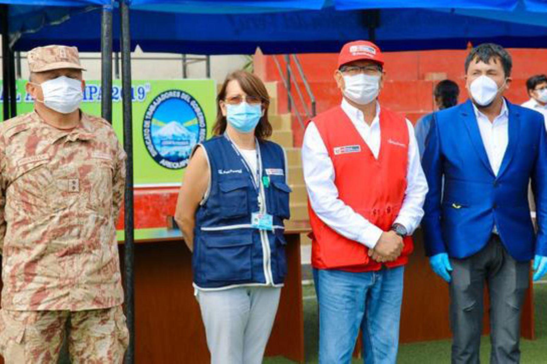 La jefa del Comando Covid-19, Pilar Mazzetti, viajó a Arequipa para evaluar la situación y proponer acciones frente a pandemia. Foto: ANDINA/Difusión