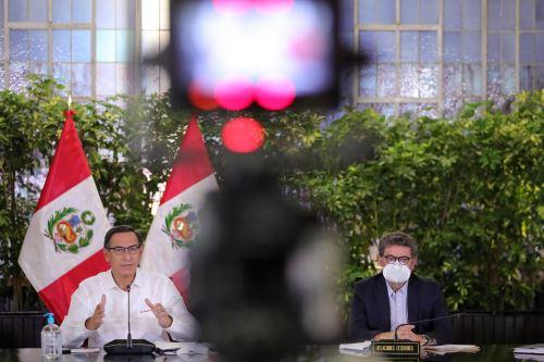 El Presidente de la República, Martín Vizcarra, informa las medidas adoptadas por el Gobierno frente al coronavirus