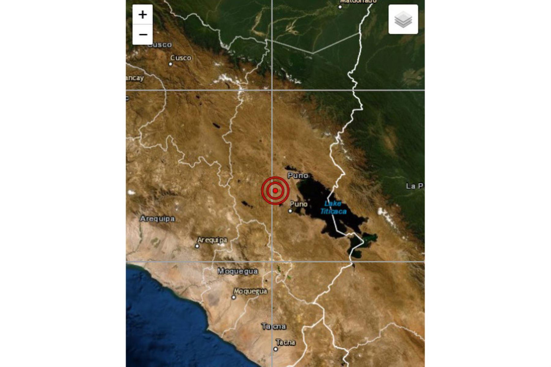 En la región Puno se registró movimiento sísmico de magnitud 4.1 esta tarde. Foto: ANDINA/Difusión