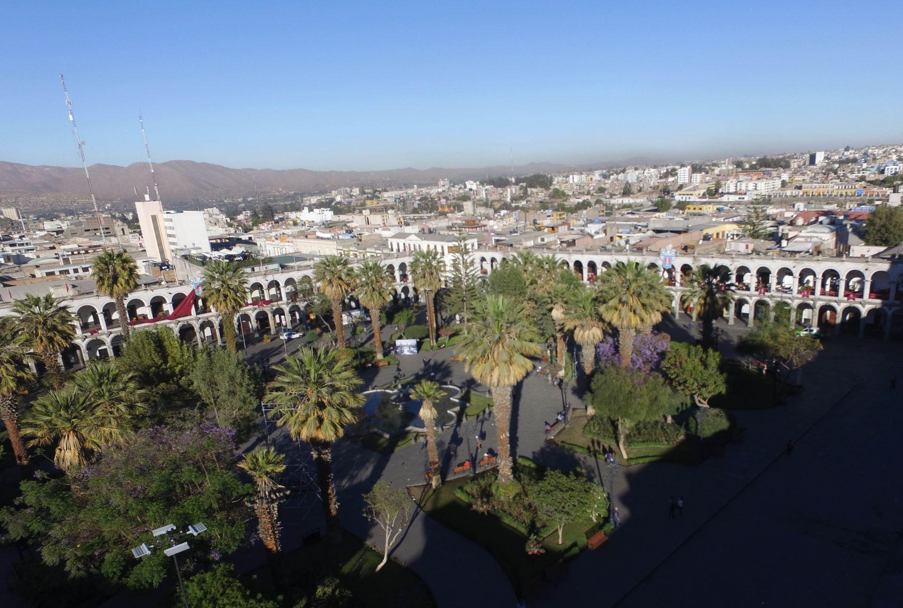 La temperatura en la ciudad de Arequipa descenderá a 4 grados Celcius, pronosticó el Senamhi. Foto: ANDINA/Difusión