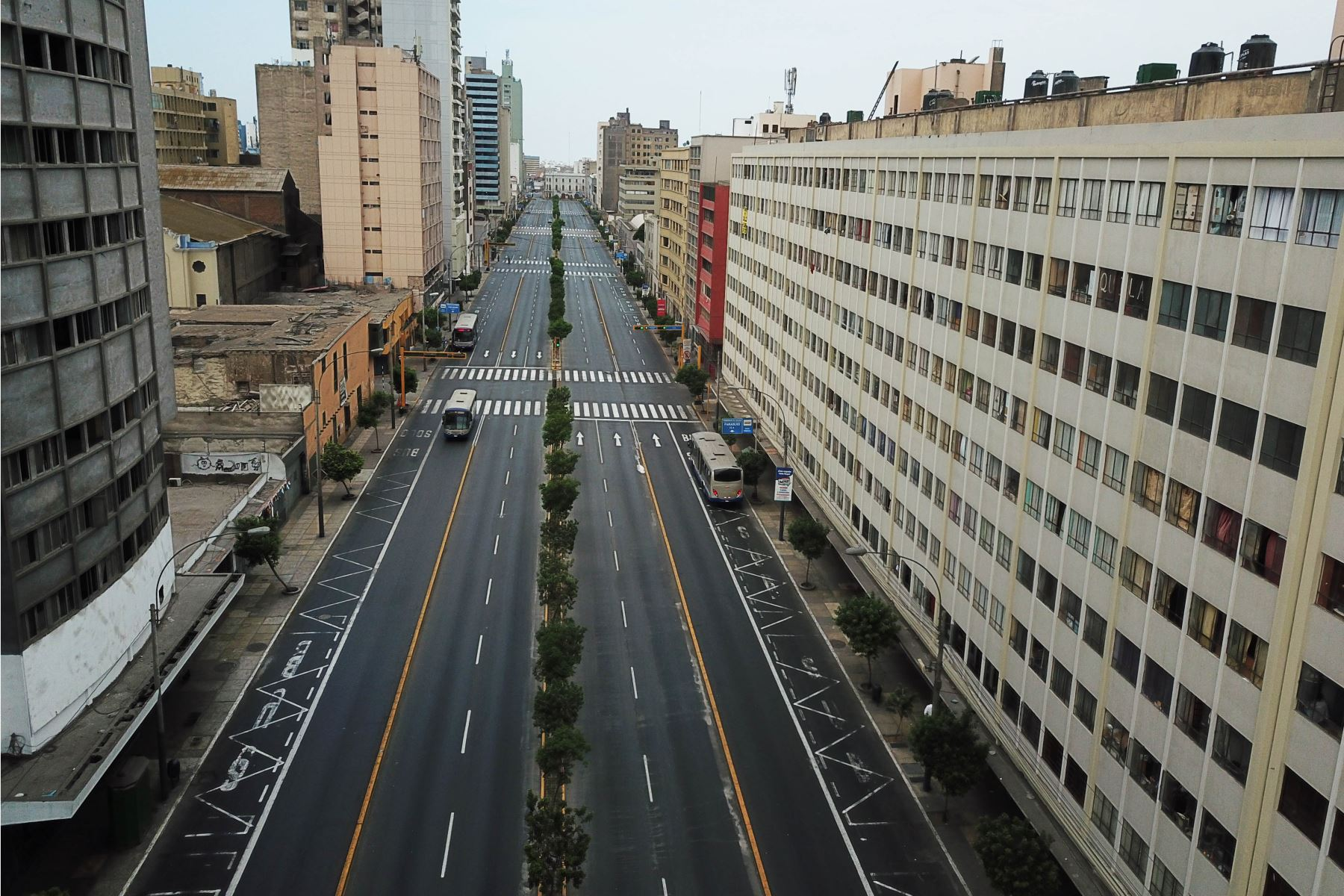 Así luce Lima en el primer domingo de inmovilización total de la población. Foto: ANDINA/ Braian Reyna Guerrero