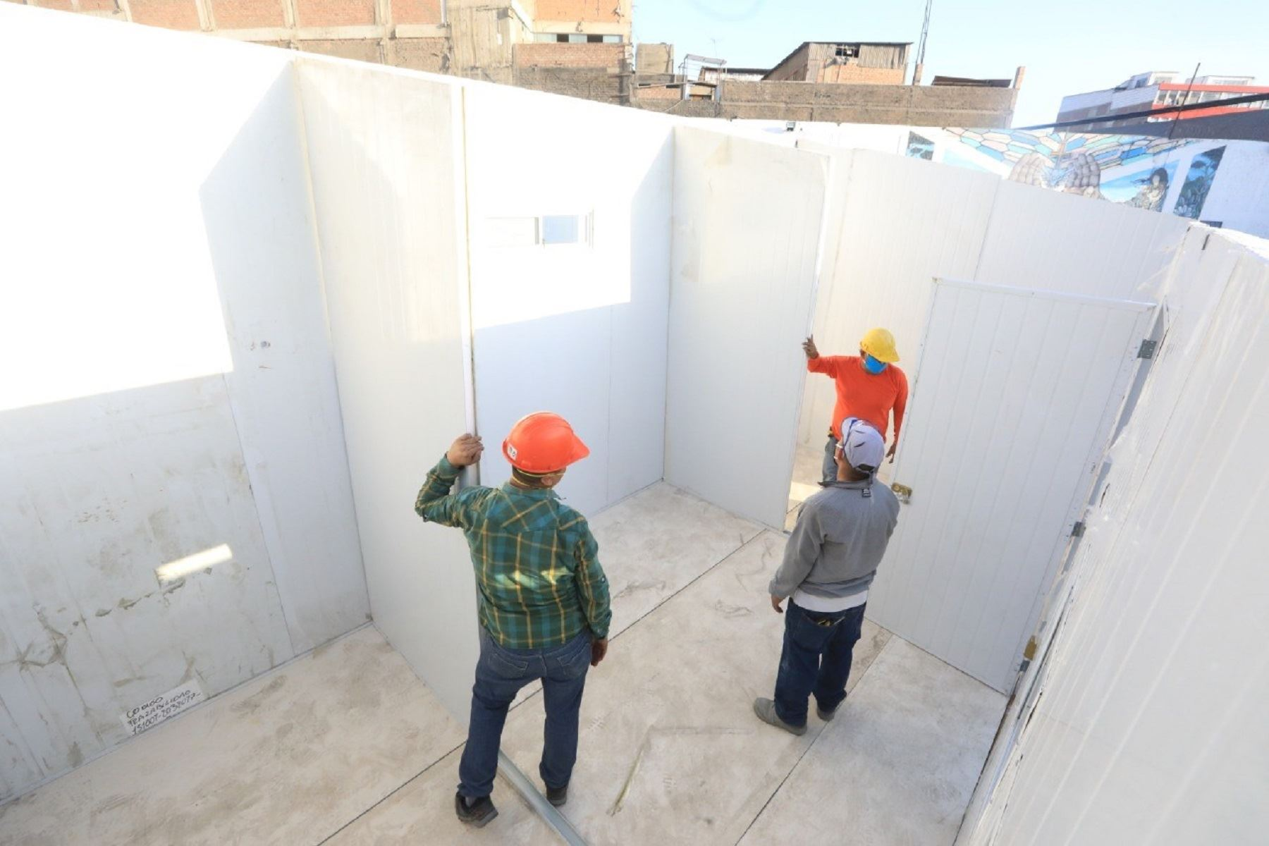 Coronavirus: INPE instalará 21 módulos en expenal San Jorge Foto: Minjus
