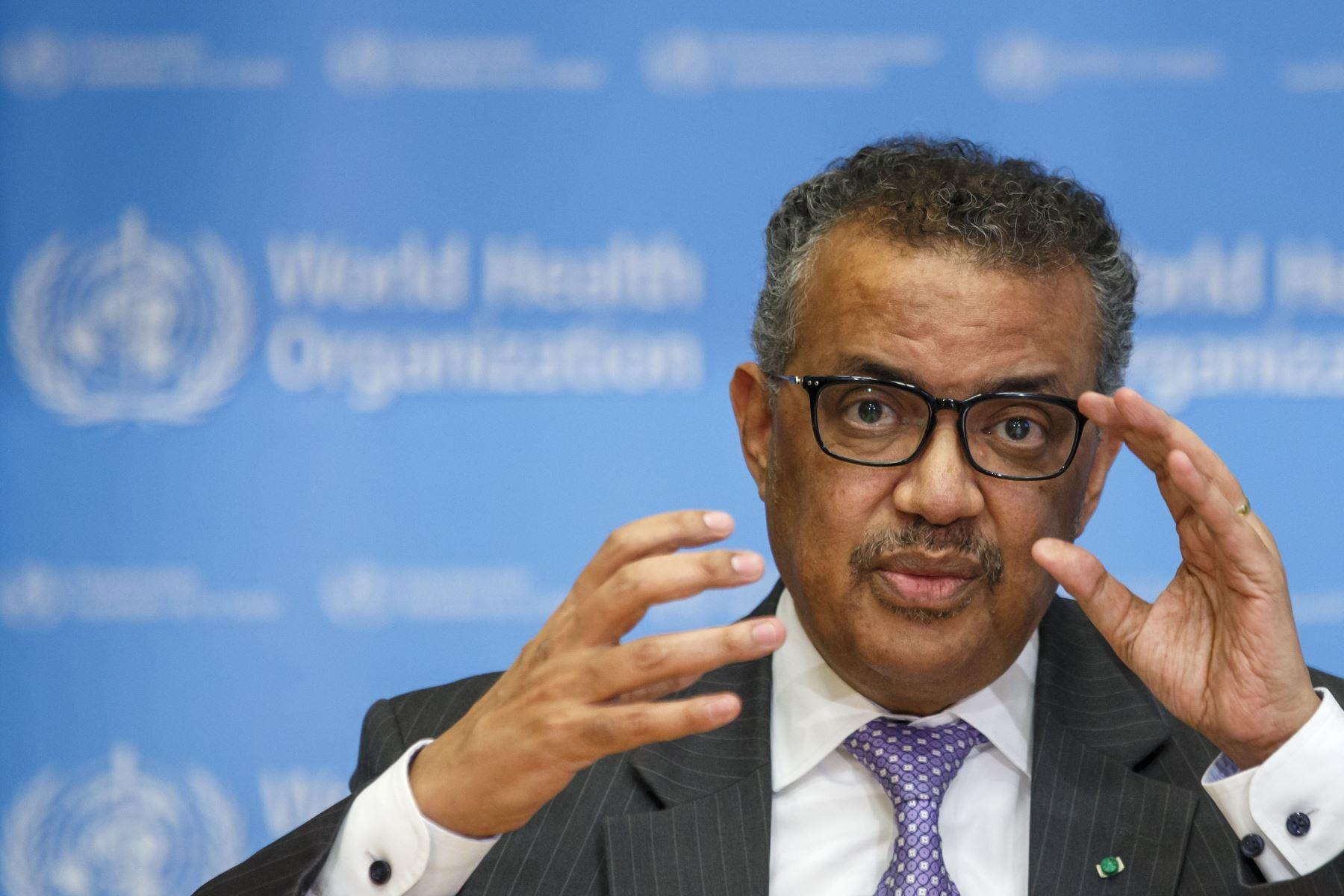 """""""La pandemia está lejos de terminar. La OMS continúa preocupada por las crecientes tendencias en África, Europa Oriental, América Latina y en algunos países de Asia"""", afirmó el jefe de la OMS. Foto: EFE"""