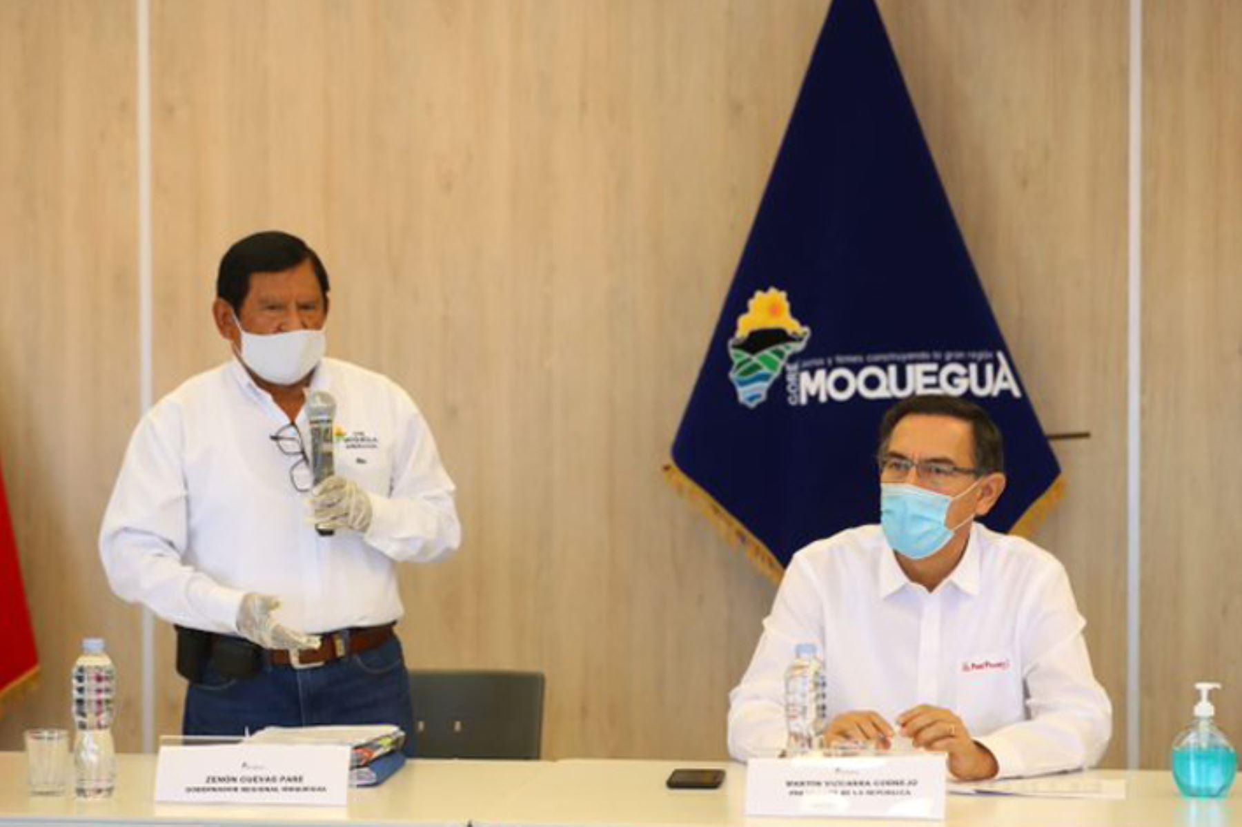 Presidente Vizcarra supervisa en Moquegua acciones frente al coronavirus |  Noticias | Agencia Peruana de Noticias Andina