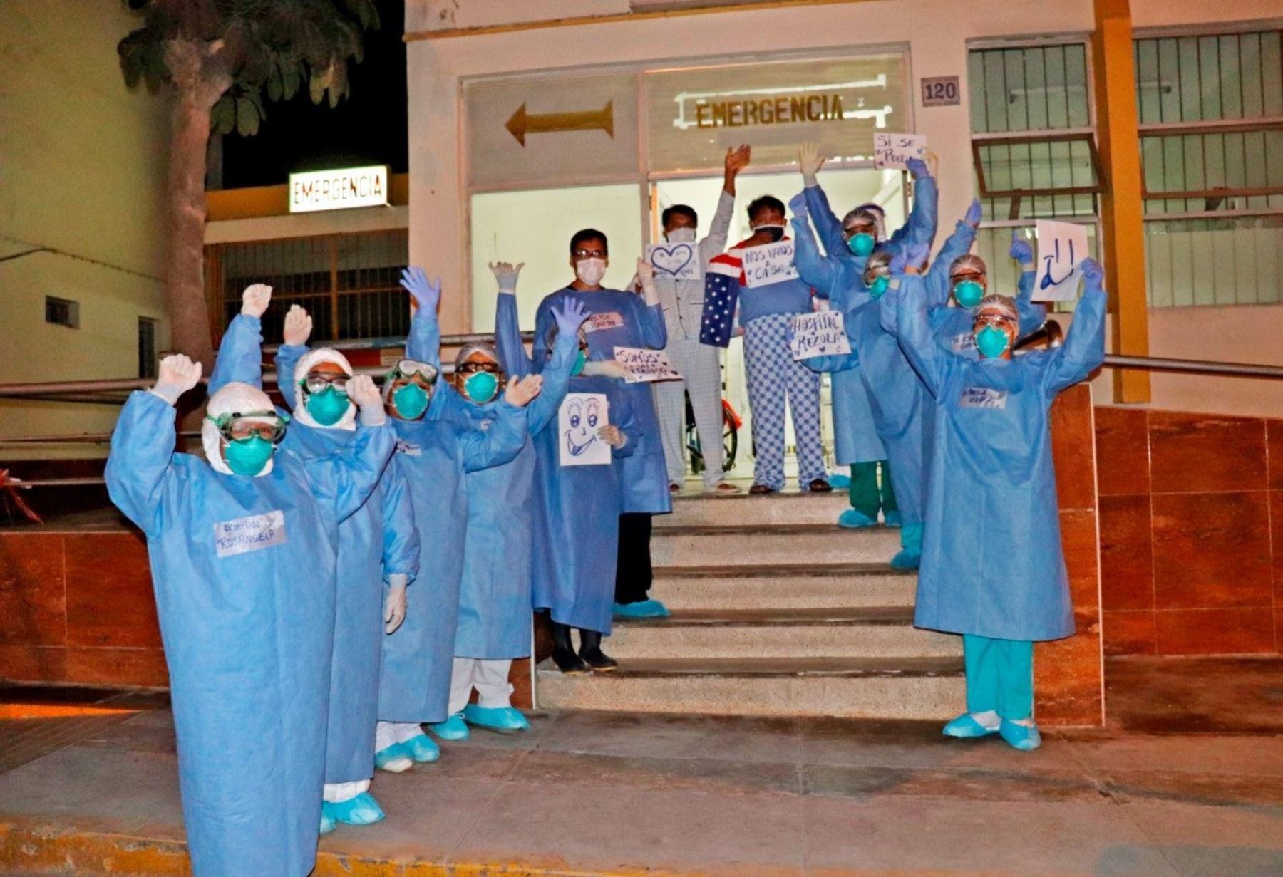 Un total de 207 pacientes con covid-19 en Piura vencen enfermedad y reciben el alta médica. Foto: ANDINA/archivo.