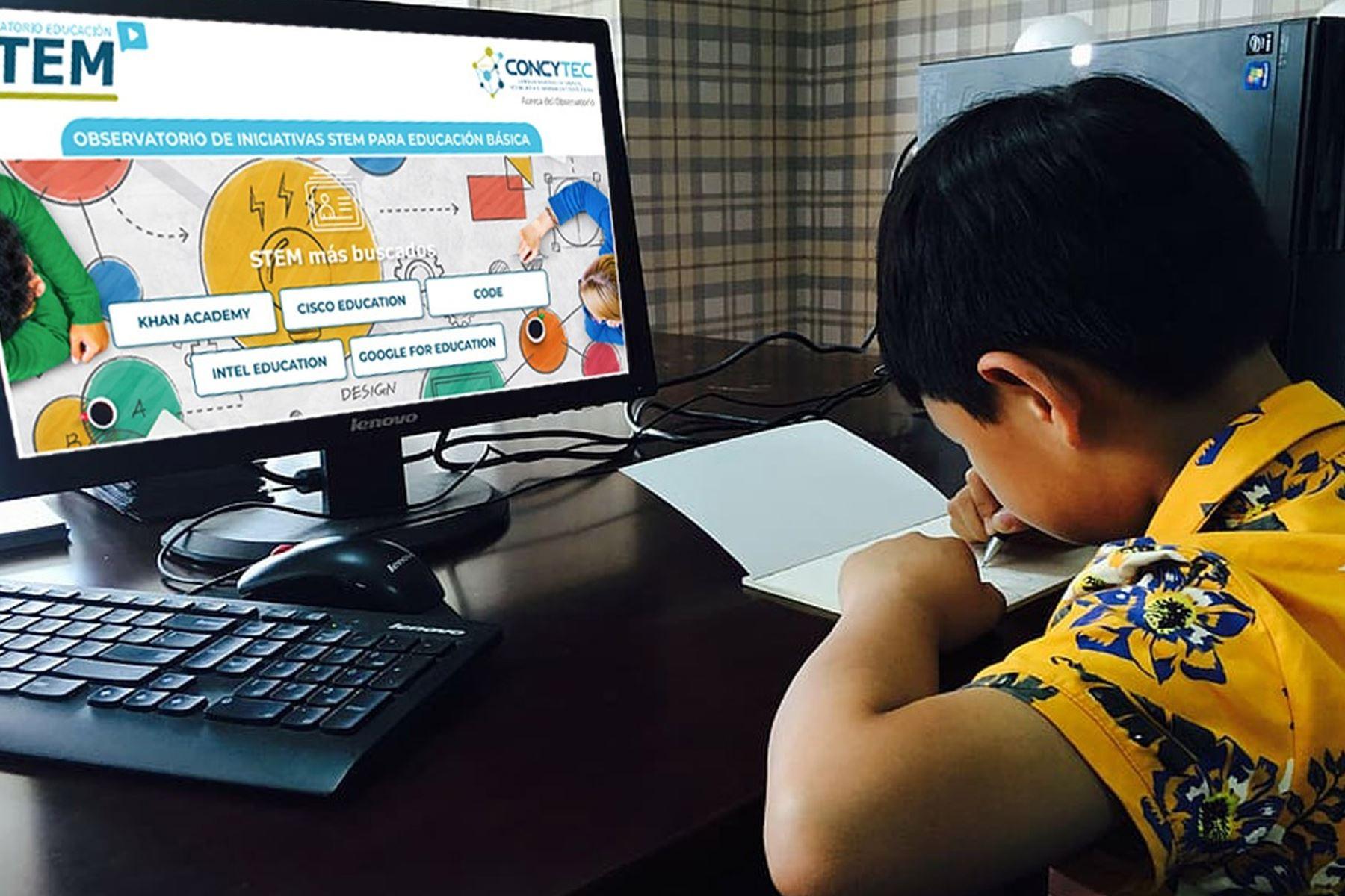 Concytec contará con la alianza estratégica con la ONG Construir Futuro y con la plataforma de educación a distancia Science Bits