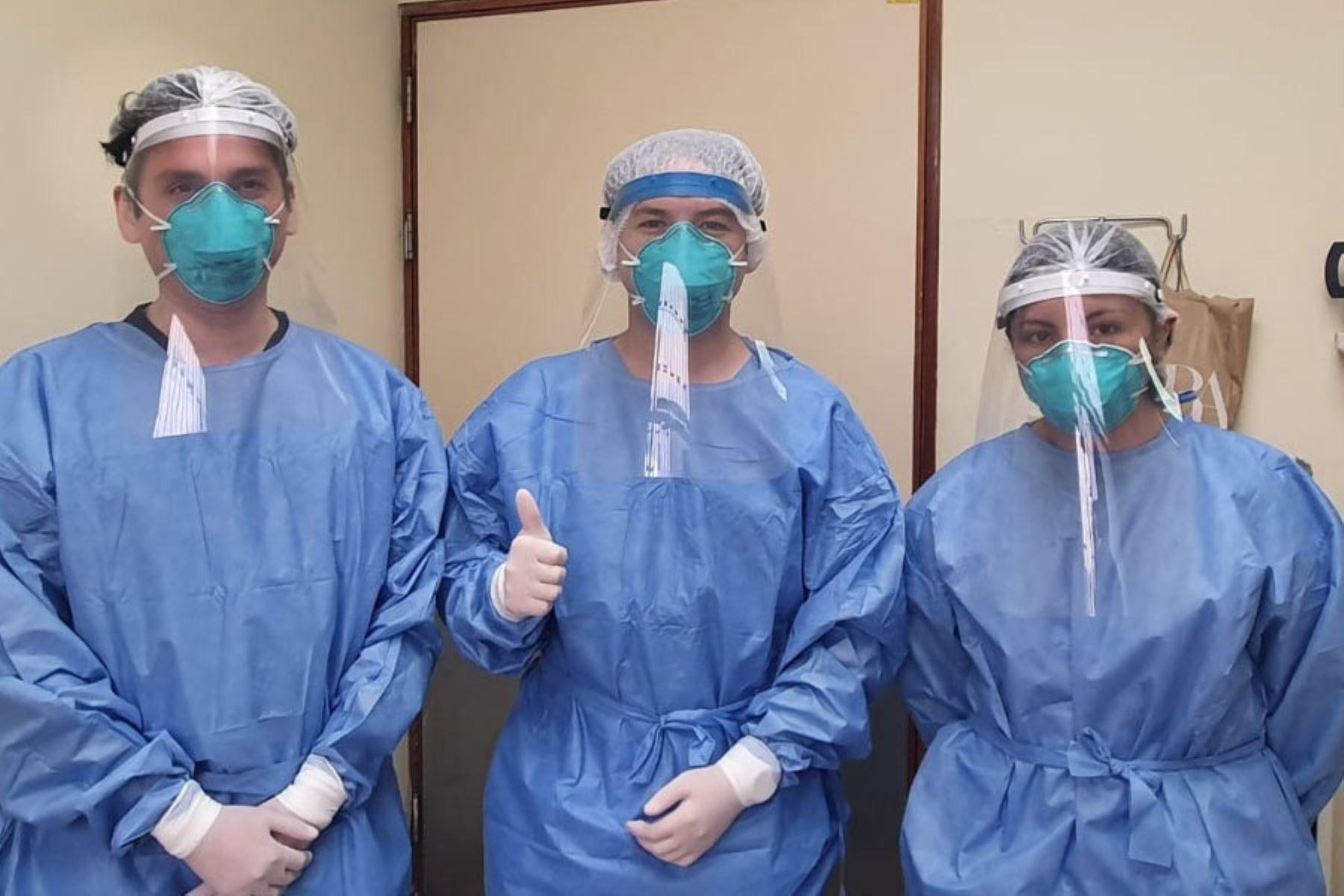 Protector facial contra el coronavirus.